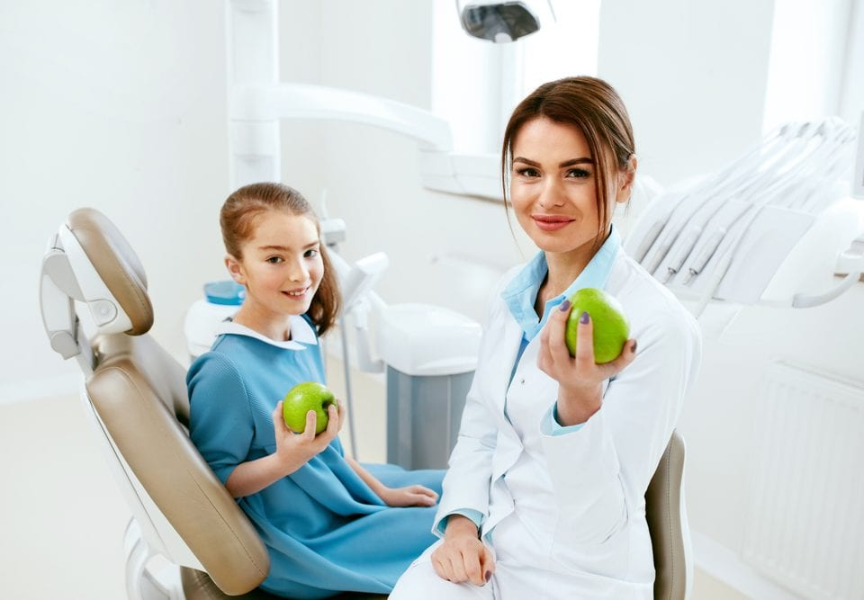 fruits promote child dental care