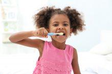 risks children brushing too hard